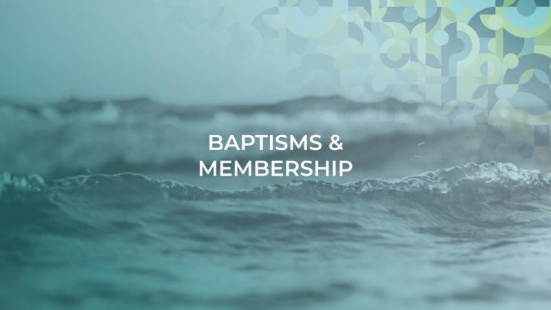 Baptism and Membership header