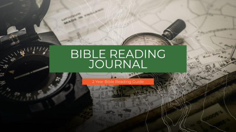 Cover image for Bible Reading Journal
