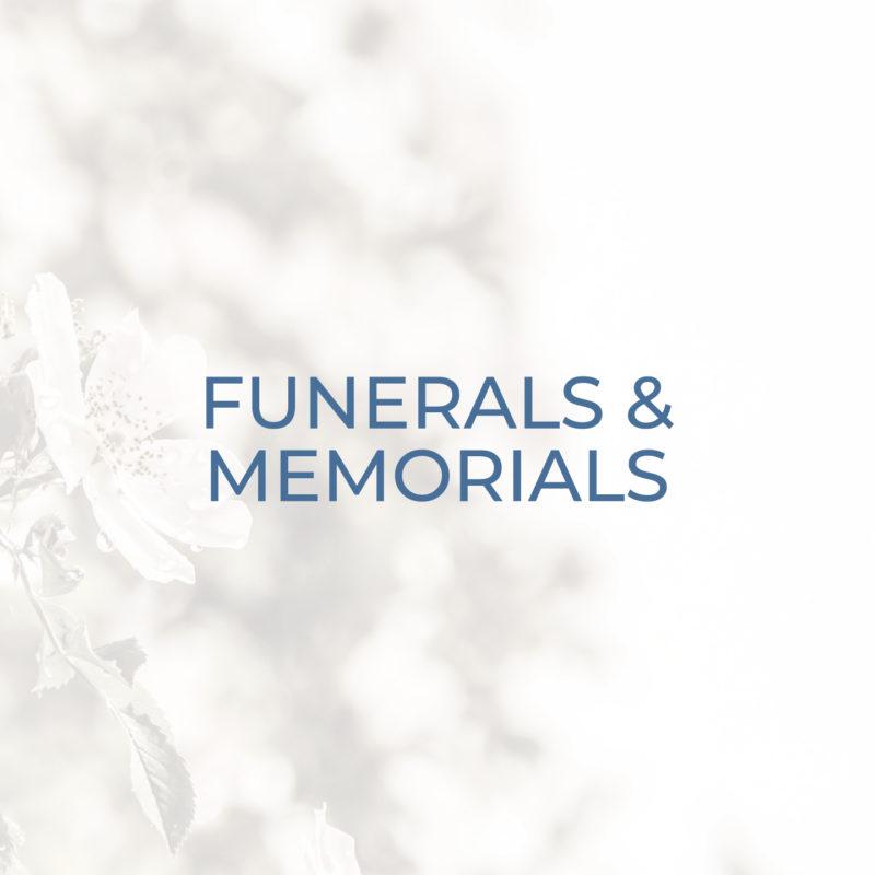Funerals and Memorials header