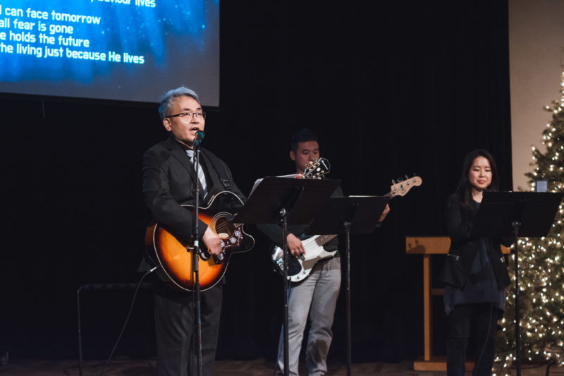 Photo of worship at ILM Korean banquet