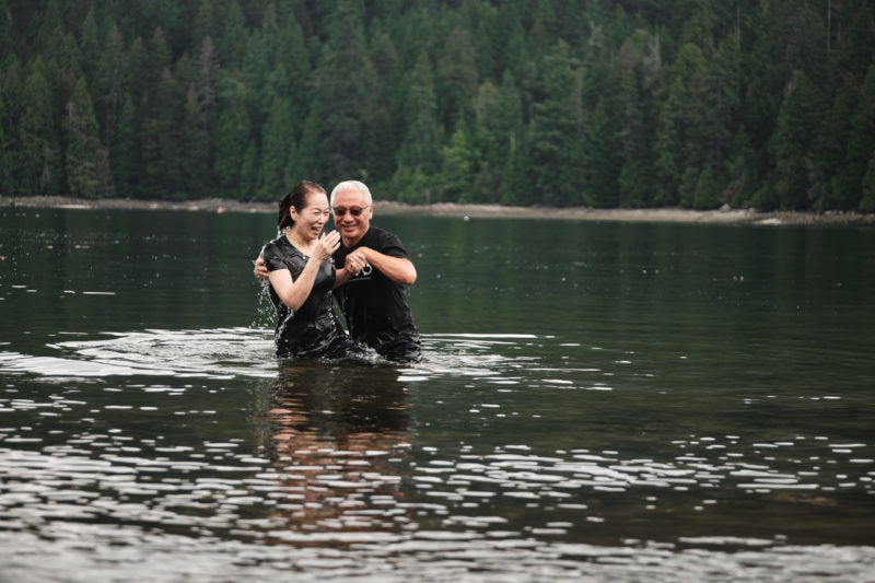 Photo of woman being baptized