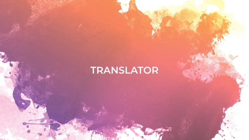 ILM Volunteers - Translator