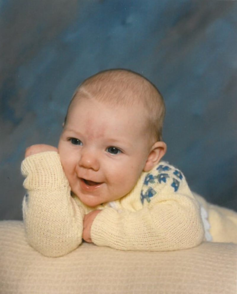 Photo of Sam as baby